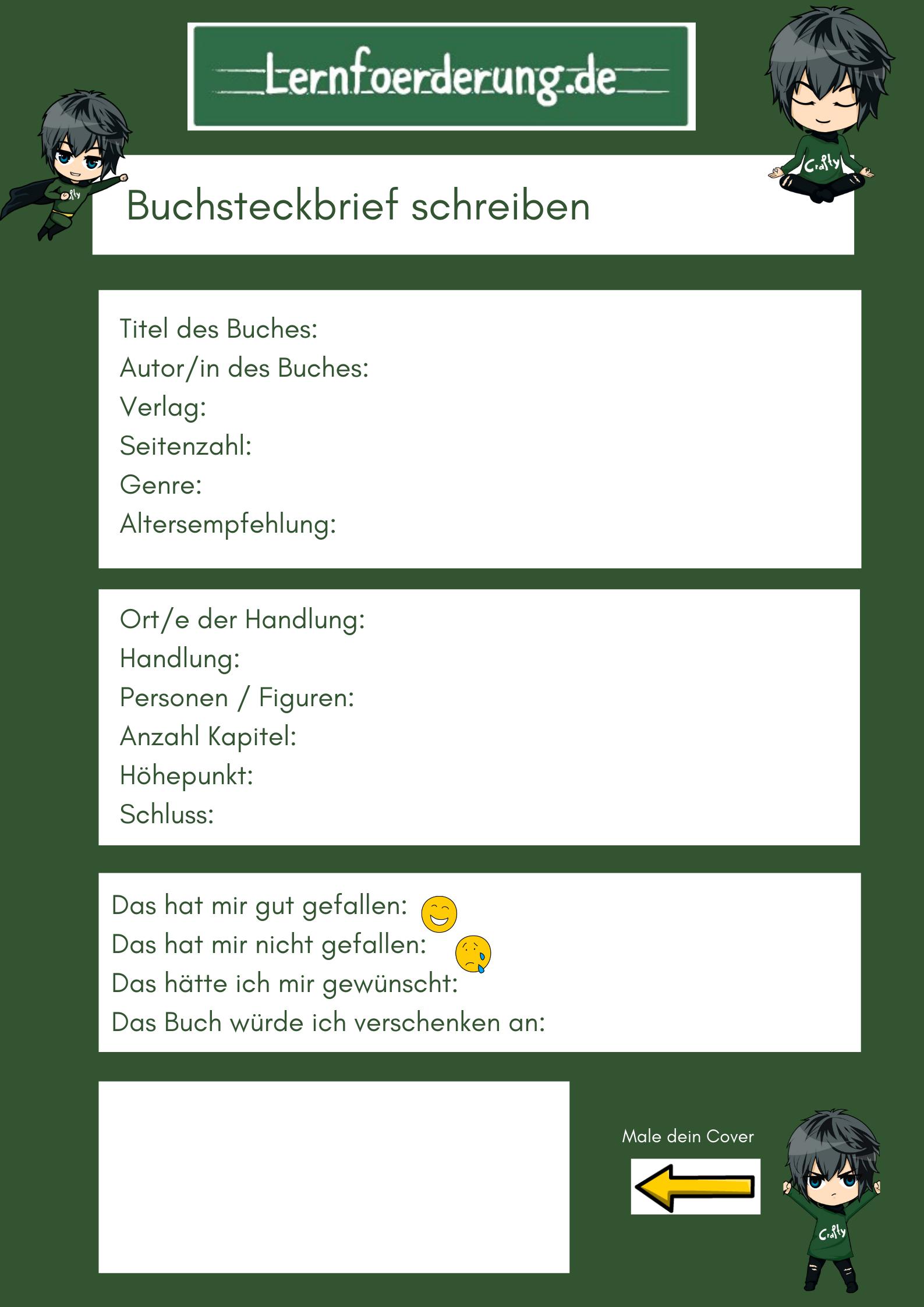 Buchsteckbrief Schreiben Vorlage Uta Reimann Hohn