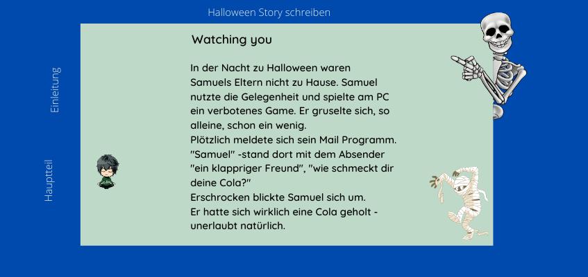 Halloween Geschichte schreiben